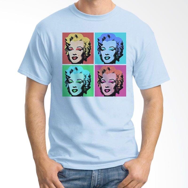 Ordinal Pop Culture 01 Biru Muda T-Shirt Pria