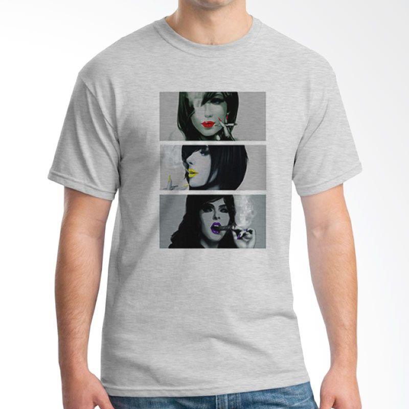 Ordinal Pop Culture 05 Abu-abu T-Shirt Pria