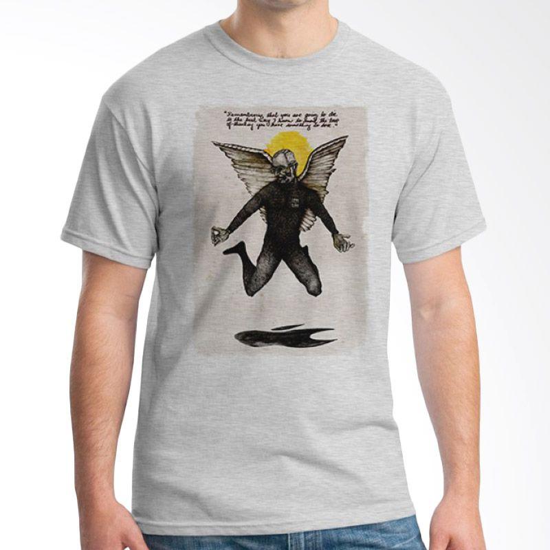 Ordinal Pop Culture 14 Abu-abu T-Shirt Pria