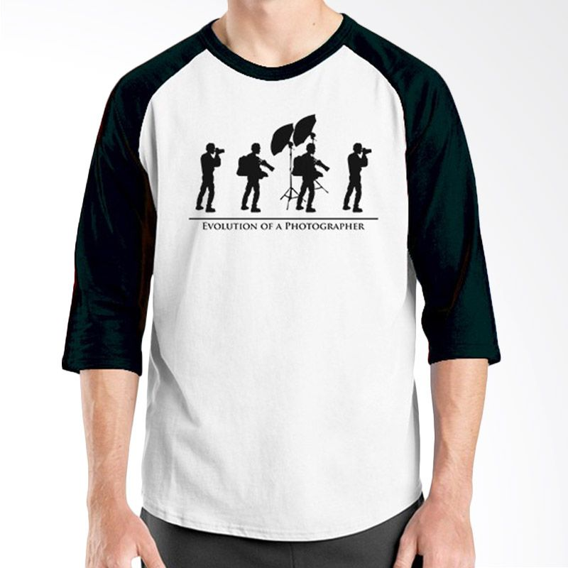 Ordinal Raglan About Photography Edition 07 Hitam Putih Kaos Pria