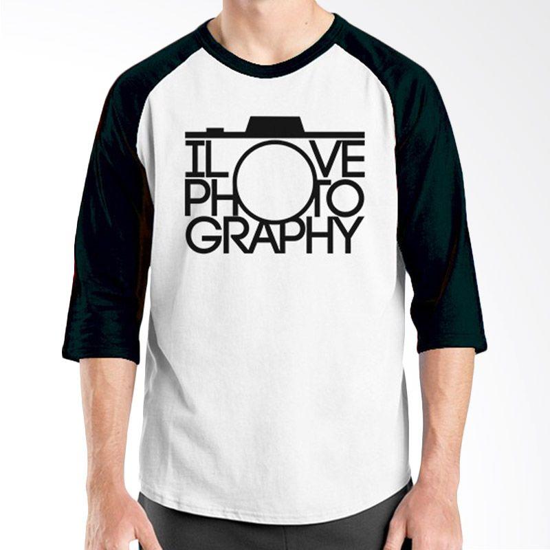 Ordinal Raglan About Photography Edition 12 Hitam Putih Kaos Pria