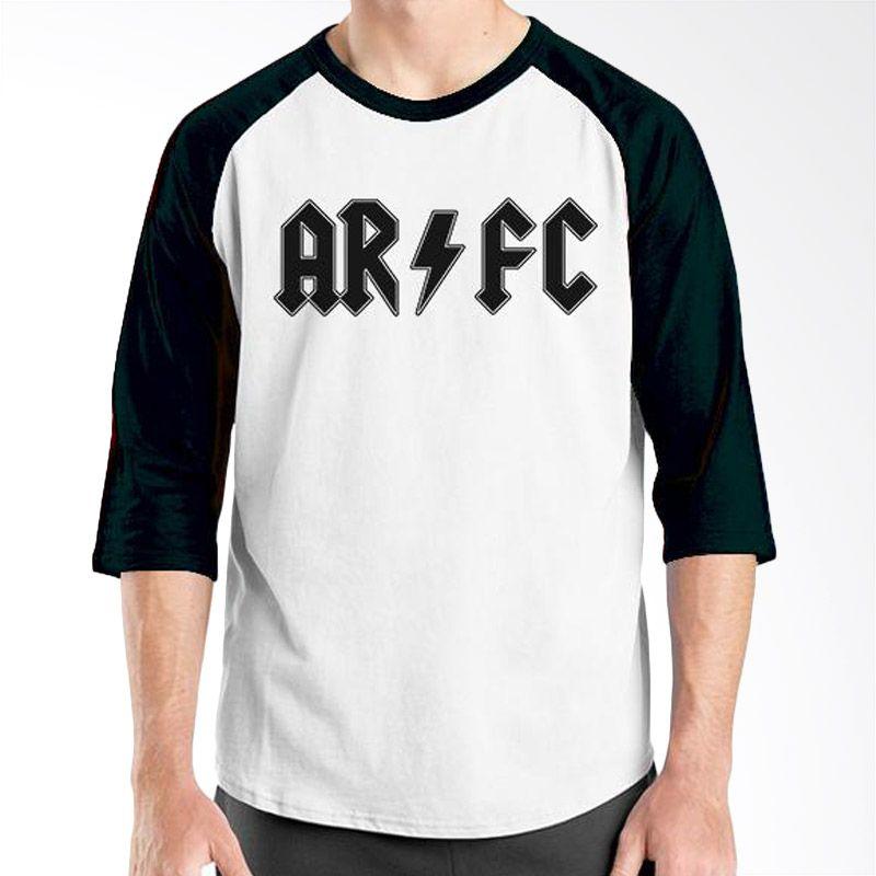 Ordinal Raglan Arsenal 01 Hitam Putih Kaos Pria