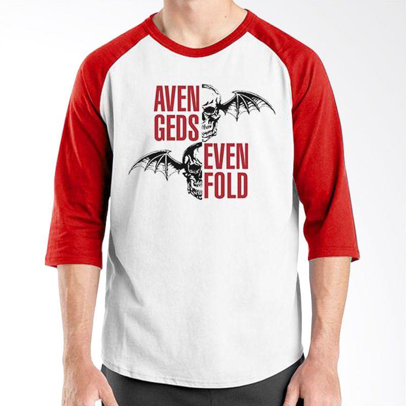 Ordinal Raglan Avenged Sevenfold 03 Merah Putih Kaos Pria