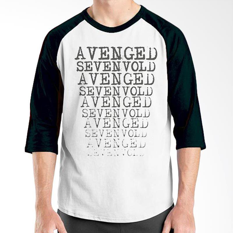 Ordinal Raglan Avenged Sevenfold 04 Hitam Putih Kaos Pria