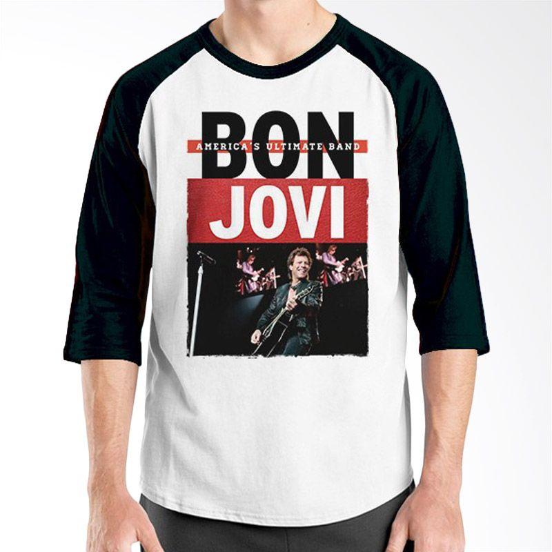 Ordinal Raglan Bon Jovi Edition 09 Hitam Putih