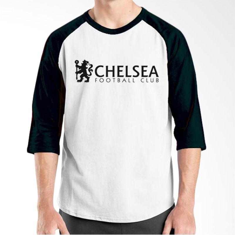 Ordinal Raglan Chelsea 05 Hitam Putih Kaos Pria