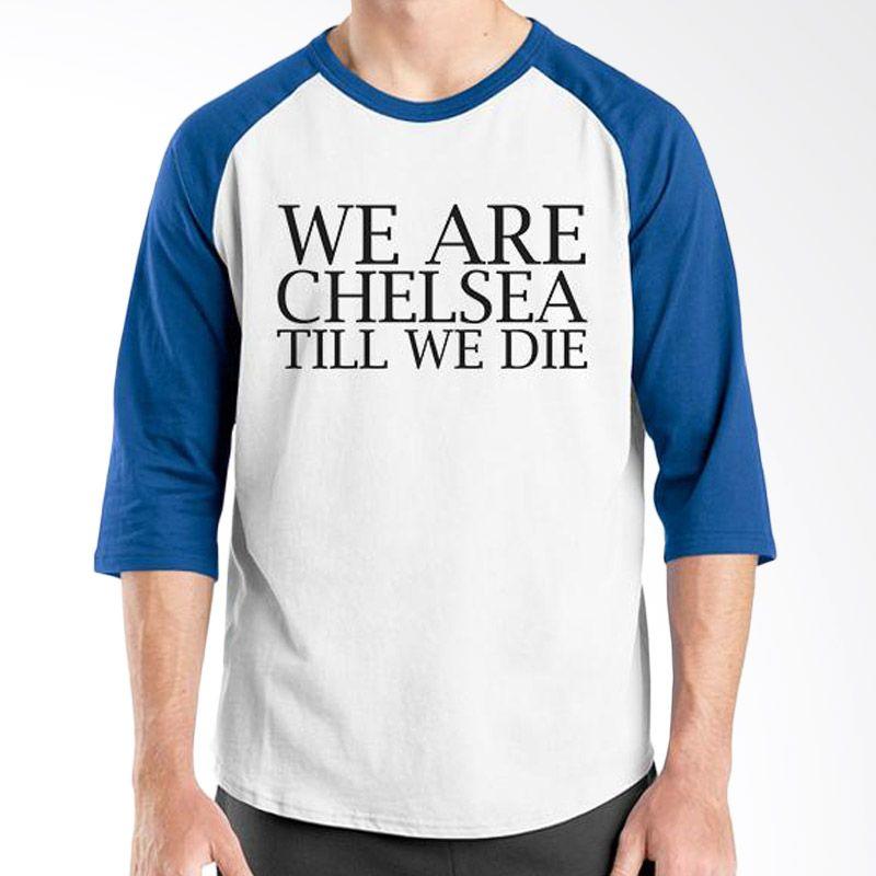 Ordinal Raglan Chelsea 10 Biru Putih Kaos Pria