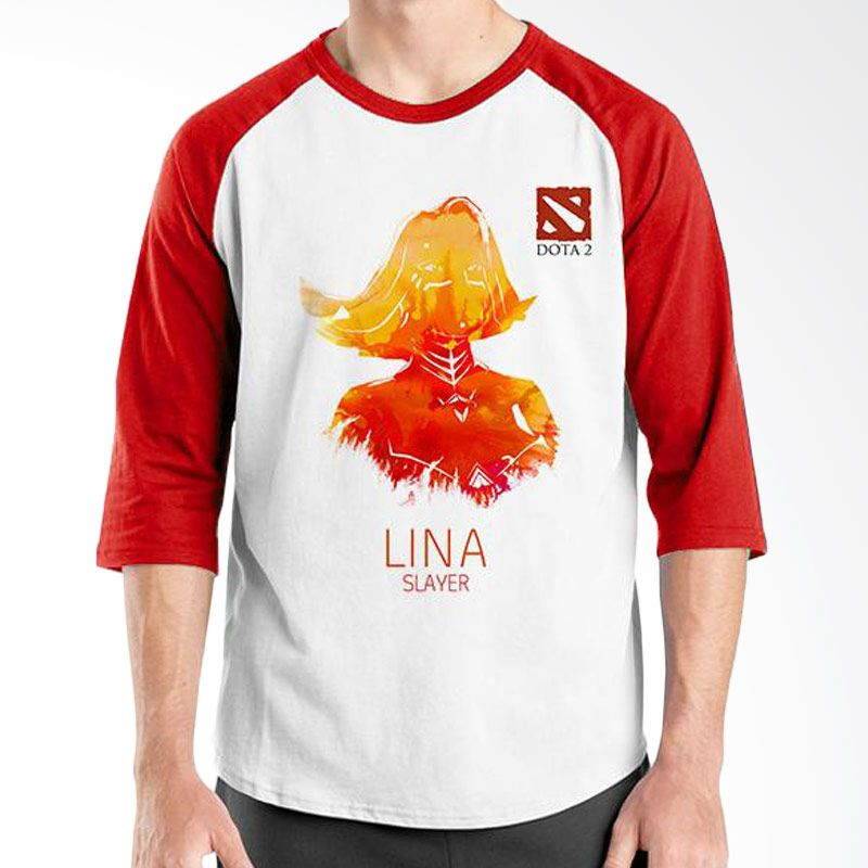 Ordinal Raglan DOTA Games Edition 02 Merah Putih Kaos Pria