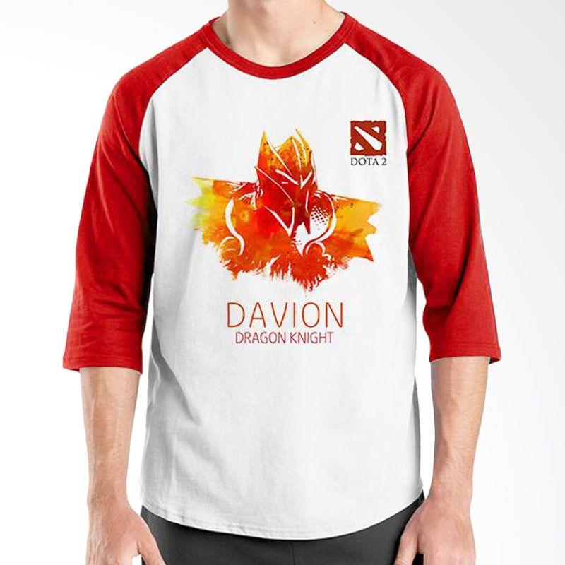 Ordinal Raglan DOTA Games Edition 10 Merah Putih Kaos Pria