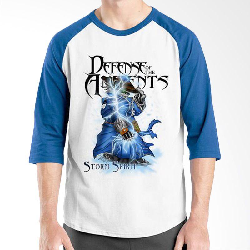Ordinal Raglan DOTA Games Edition 17 Biru Putih Kaos Pria