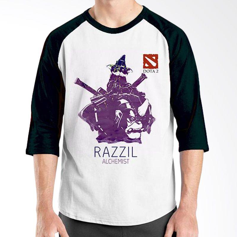 Ordinal Raglan DOTA Games Edition 22 Hitam Putih Kaos Pria