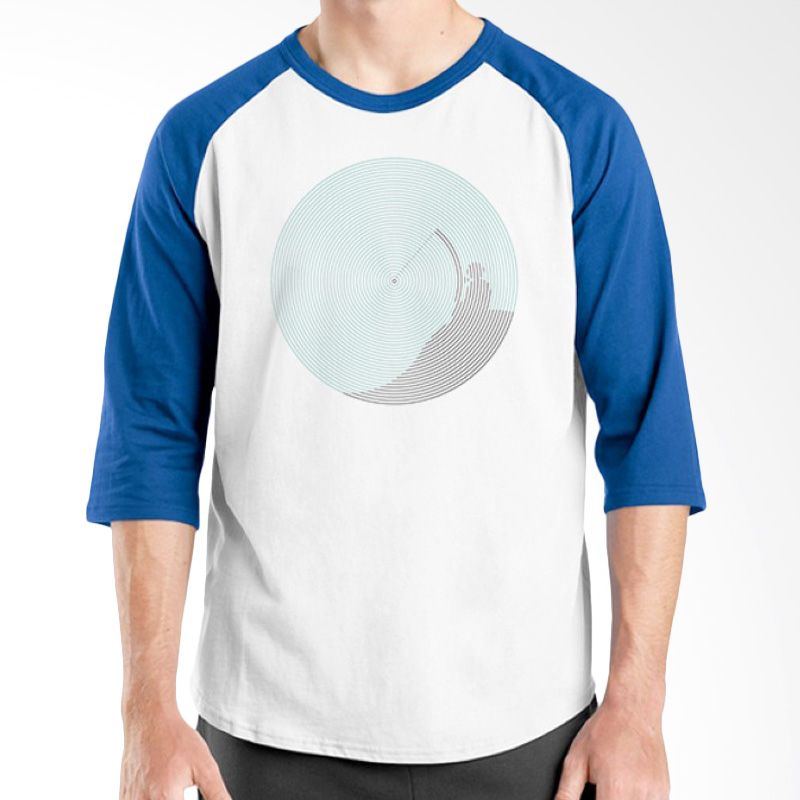 Ordinal Raglan Fishing Edition 07 Biru Putih Kaos Pria