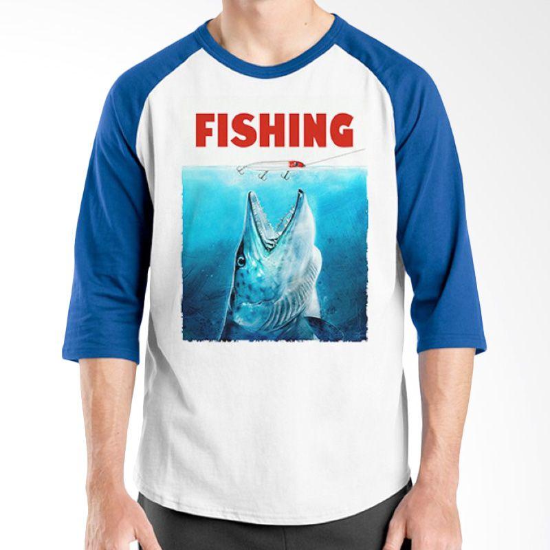 Ordinal Raglan Fishing Edition 09 Biru Putih Kaos Pria