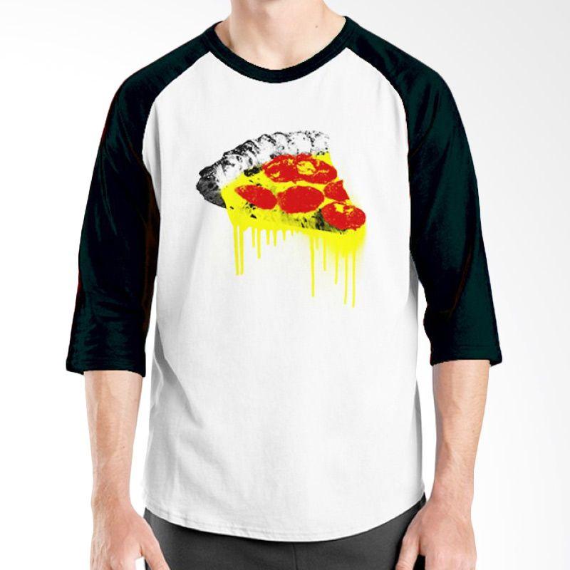 Ordinal Raglan Foodtastic 07 Hitam Putih Kaos Pria