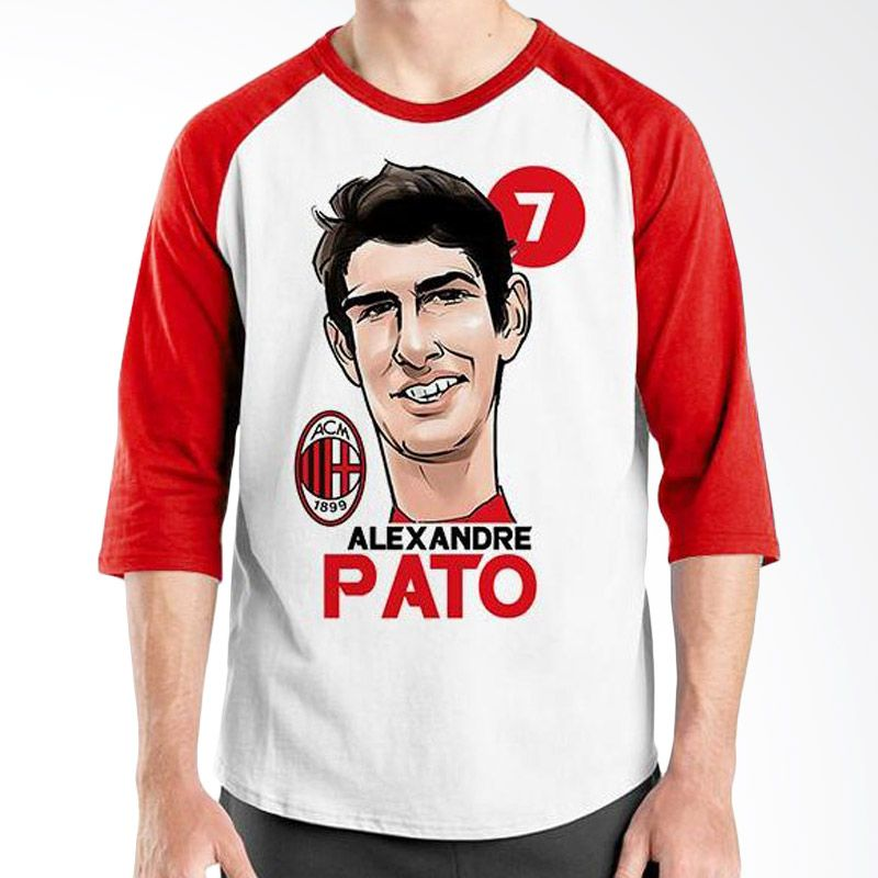 Ordinal Raglan Football Player Edition Pato Merah Putih Kaos Pria