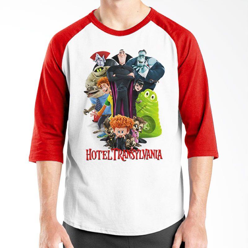 Ordinal Hotel Transylvania Edition 01 Raglan Merah Putih Kaos Pria