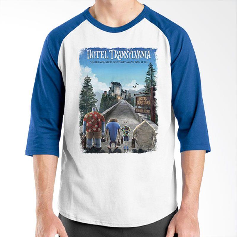 Ordinal Hotel Transylvania Edition 04 Raglan Biru Putih Kaos Pria