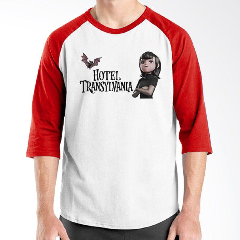 Ordinal Hotel Transylvania Edition 08 Raglan Merah Putih Kaos Pria