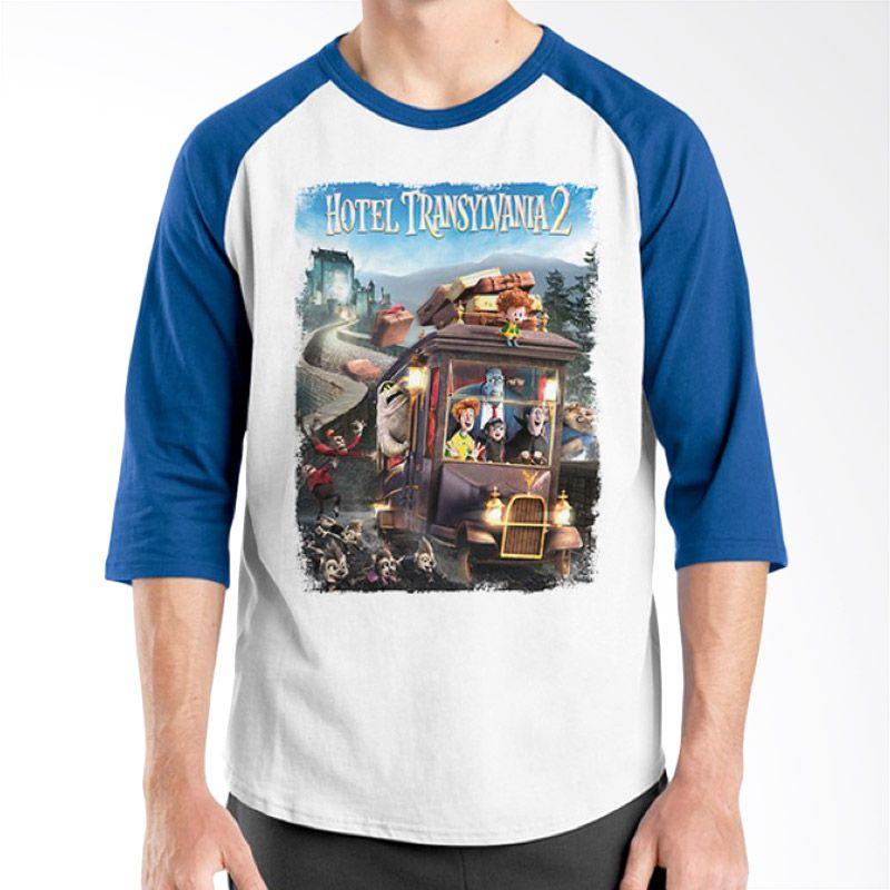 Ordinal Hotel Transylvania Edition 09 Raglan Biru Putih Kaos Pria