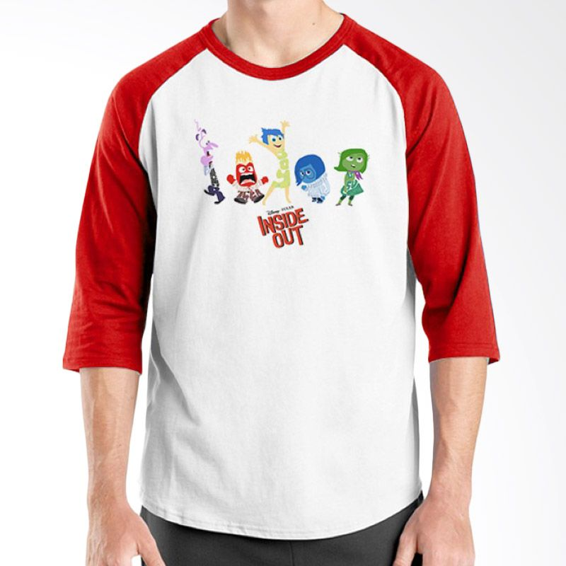 Ordinal Raglan Inside Out Edition 07 Merah Putih Kaos Pria