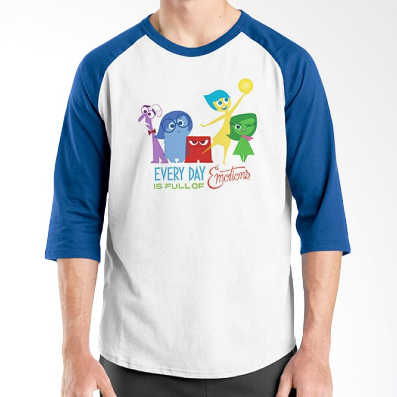 Ordinal Raglan Inside Out Edition 06 Biru Putih Kaos Pria