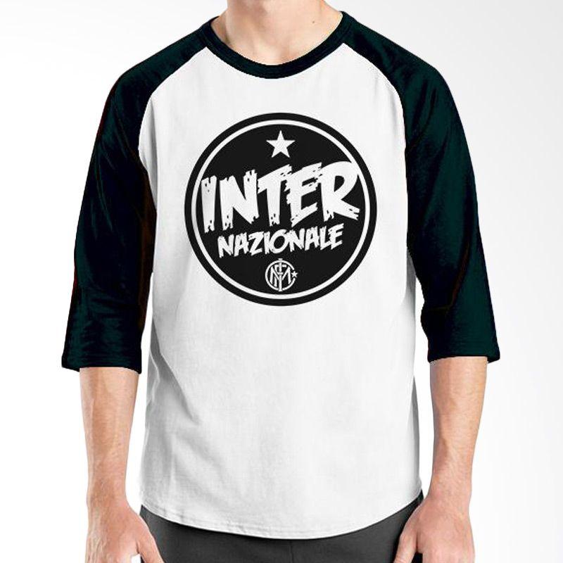 Ordinal Raglan Inter Milan Edition 06 Hitam Putih Kaos Pria