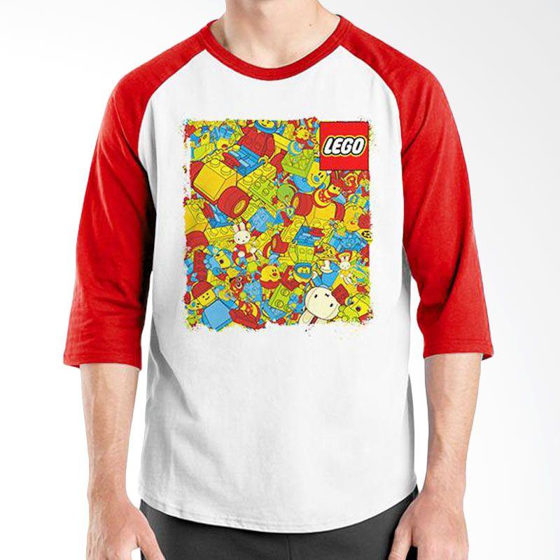 Ordinal Raglan Lego Edition 02 Merah Putih Kaos Pria
