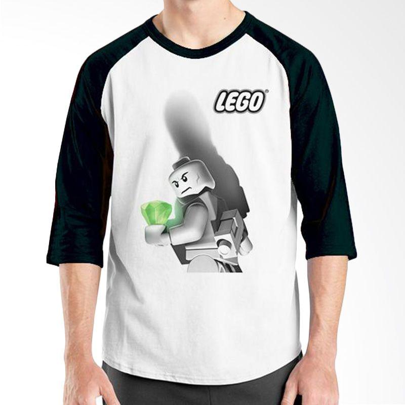 Ordinal Raglan Lego Edition 03 Hitam Putih Kaos Pria