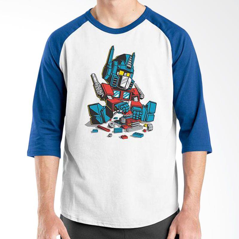 Ordinal Raglan Lego Edition 13 Biru Putih Kaos Pria