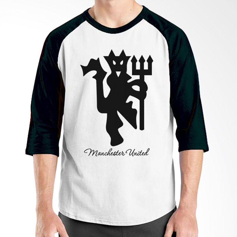 Ordinal Raglan Manchester United Edition 05 Putih Hitam Kaos Pria