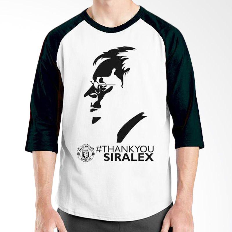 Ordinal Raglan Manchester United Edition 09 Putih Hitam Kaos Pria