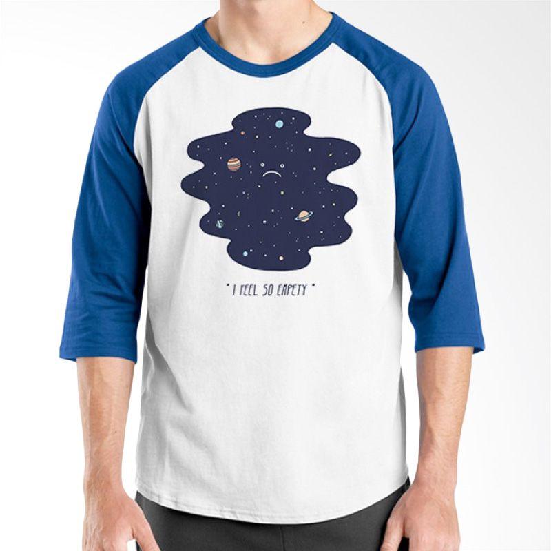 Ordinal Raglan Space 12 Putih Biru Kaos Pria