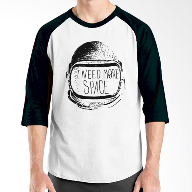 Ordinal Raglan Space 14 Putih Hitam Kaos Pria