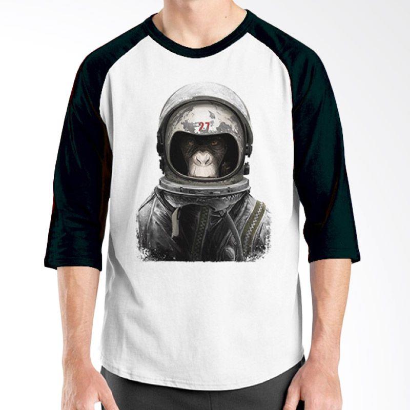 Ordinal Raglan Space 16 Putih Hitam Kaos Pria