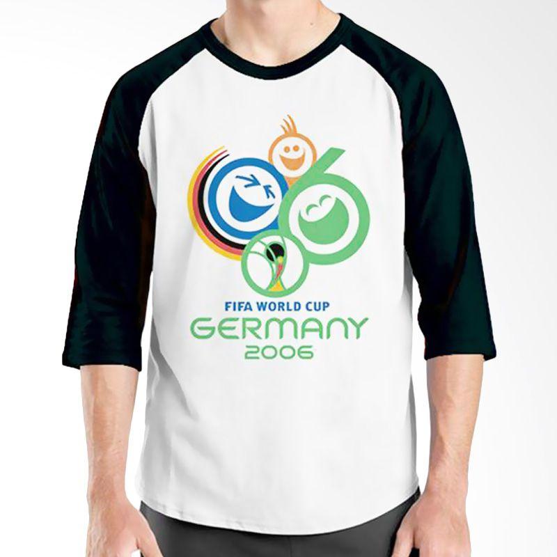 Ordinal Raglan World Cup Classic Edition 08 Hitam Putih Kaos Pria