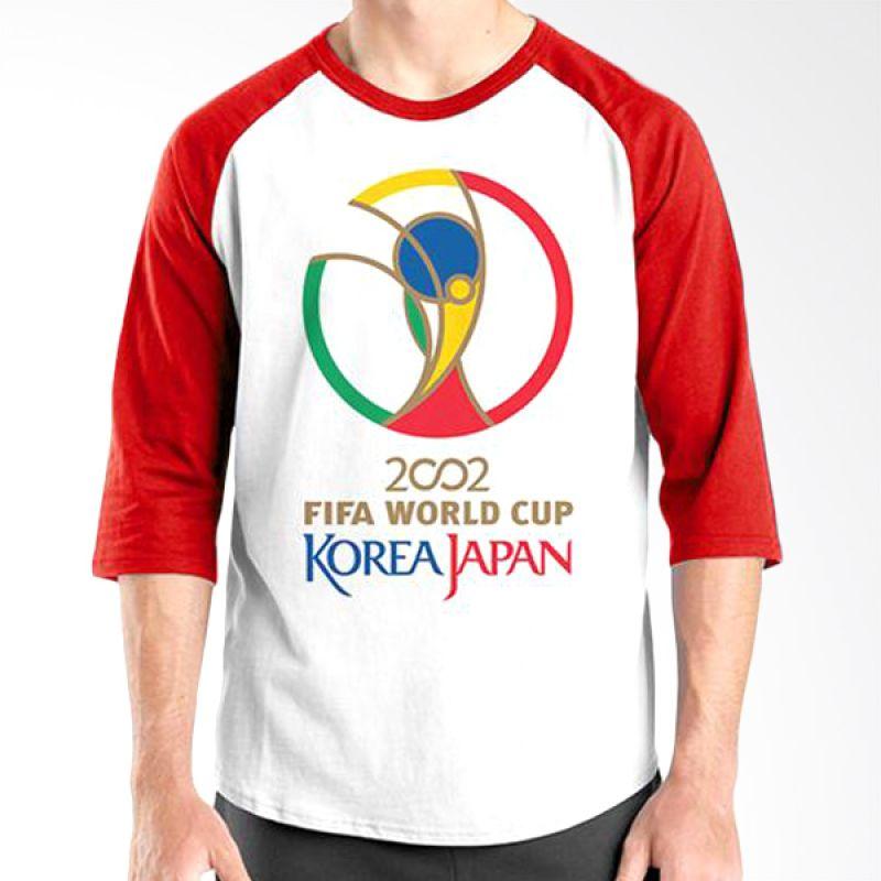 Ordinal Raglan World Cup Classic Edition 10 Merah Putih Kaos Pria