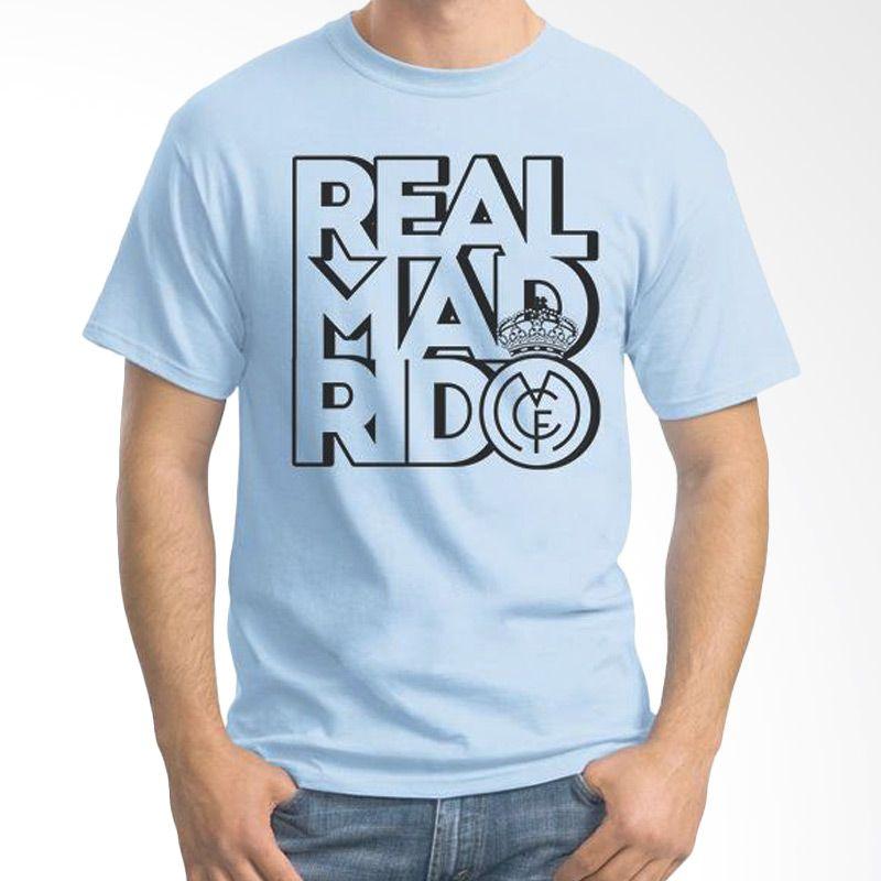 Ordinal Real Madrid 01 Biru Muda Kaos Pria