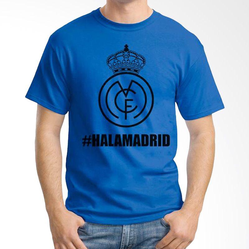 Ordinal Real Madrid 02 Biru Tua Kaos Pria