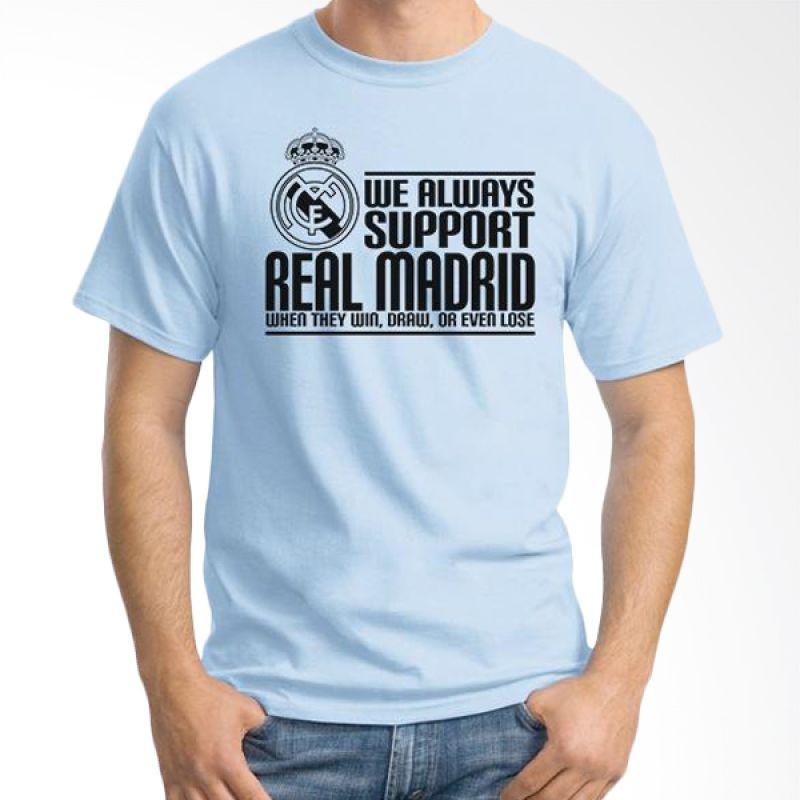 Ordinal Real Madrid 03 Biru Muda Kaos Pria