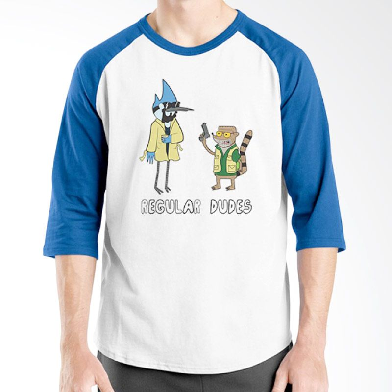 Ordinal Regular Dudes 01 Raglan Biru Putih T-Shirt Pria