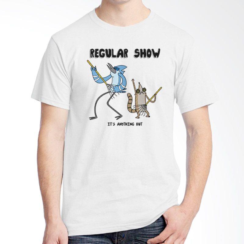 Ordinal Regular Show 15 Putih Kaos Pria