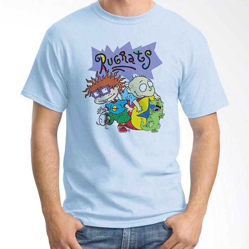 Ordinal Rugrats Biru Muda Kaos Pria