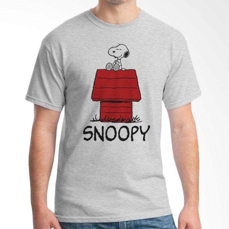 Ordinal Snoopy 01 Abu-abu Kaos Pria