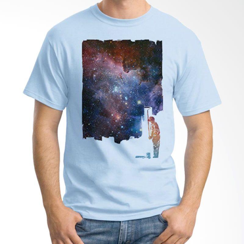 Ordinal Space 03 Biru Muda Kaos Pria