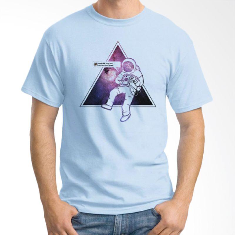 Ordinal Space 09 Biru Muda Kaos Pria
