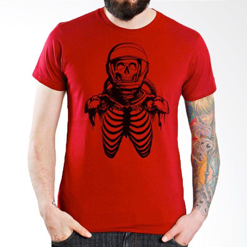 Ordinal Space 18 Merah Kaos Pria