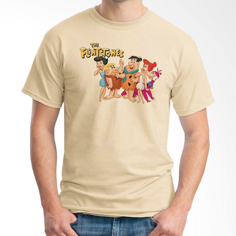 Ordinal The Flintstones Coklat Krem Kaos Pria