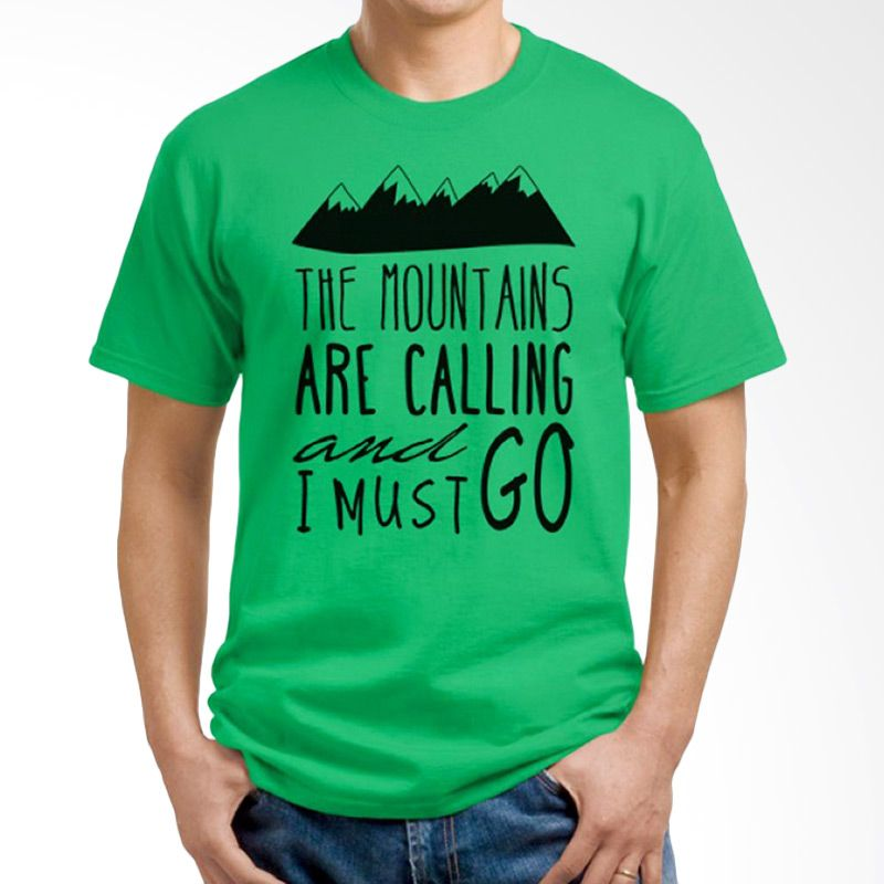 Ordinal Travel Quotes 05 Hijau Kaos Pria