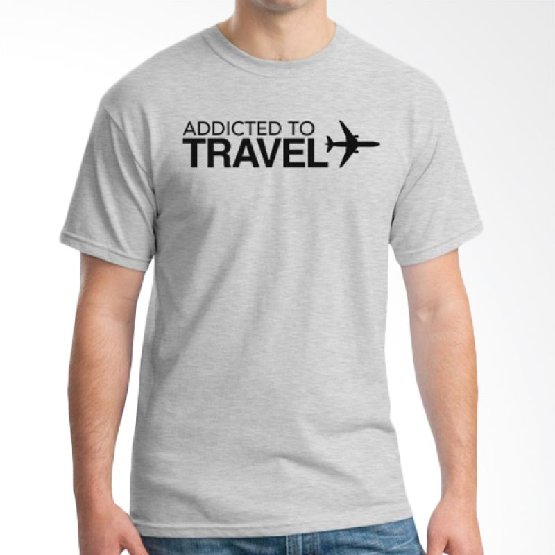 Ordinal Travel Quotes 14 Grey Kaos Pria