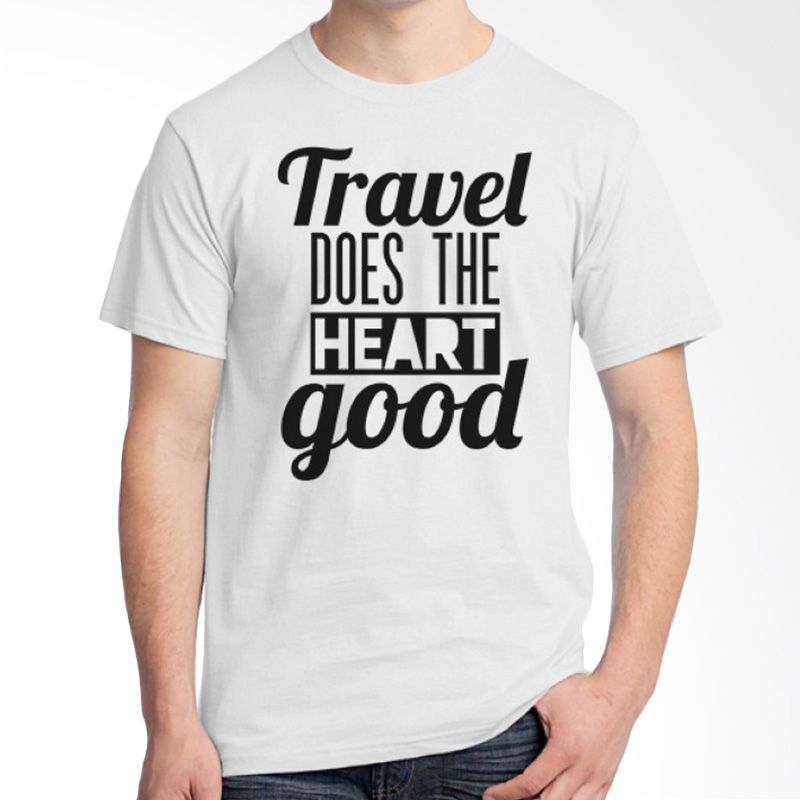 Ordinal Travel Quotes 16 Putih Kaos Pria